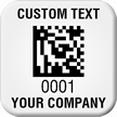 Create 2D Barcode Company Asset Tags