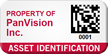 Customizable Asset Identification Tag With Barcode