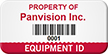 Personalized Company Name, Barcode, Numbering Asset Tag