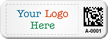 Custom Small 2D Barcode Logo Tags (Full Color)