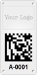 Custom Logo, 2D Barcode Metal Asset Tag Plates