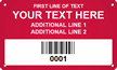 Custom Metal Asset Tag Plates with Barcode