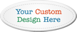 Customizable Oval Tag, Add Own Design (Full Color)