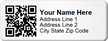 QR Code Asset Tag, Add Name, Address, City