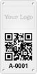 Custom QR Code Logo Metal Asset Tag Plates
