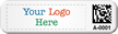 Custom 2D Barcode Tags with Logo (Full Color)