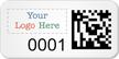 Custom SunGuard 2D Barcode Logo Asset Tag