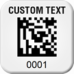 Personalized 2D Barcode Asset Tags