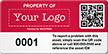 Customizable QR Code Logo Asset Tag