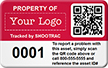 Personalized Asset Tag With QR Code