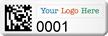 Customizable SunGuard 2D Barcode Logo Asset Tags