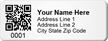 QR Code Asset Tag, Add Address, City, State