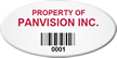 Custom Oval Barcode Asset Tag