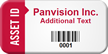 Personalized Asset Id Tag With Barcode
