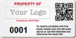 QR Code Customizable Logo Asset Tag