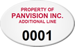 Custom Oval Asset Tag with Numbering