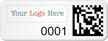 Personalized SunGuard 2D Barcode Logo Asset Tags
