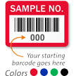 SAMPLE NO., with barcode numbering