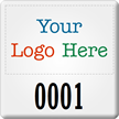SunGuard Asset Tag with Custom Logo Number