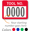 TOOL NO. Label, numbering, pack of 1000
