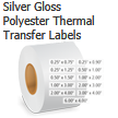 Silver Gloss Polyester Thermal Transfer Labels