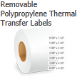 Removable Polypropylene Thermal Transfer Labels