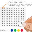 Sequentially Pre-Numbered Vinyl Labels Sheet