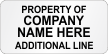 Customizable Property Of Company Name Economy Asset Labels