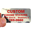 Custom Chrome Sticker