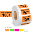 Personalized Color Coded Consecutive Number Labels Roll