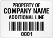 Create Economy Asset Labels, Add Text, Barcode, Numbering