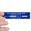 Rectangular Equipment Name Plate (1