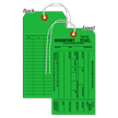 1-Part Green Cardstock Tag With String