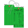 1-Part Green Cardstock Tag With Wire
