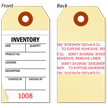 Mini 2-Part and 3-Part Inventory Tag with Adhesive onmouseover =