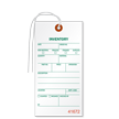 1-Part Tyvek Inventory Tag With String