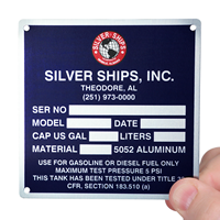 Aluminum Name Plates With Mounting holes