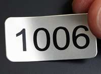 Metal Labels with Sequential Numbers