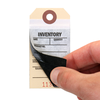 2 And 3-Part Inventory Tag with Adhesive