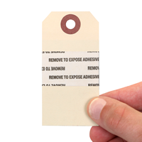 Sequentially Numbered Inventory Tag