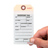 two-part Inventory tag