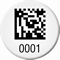 Round Customizable 2D Barcode Number Asset Tags
