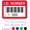 ID Number Barcode Labels (Pack of 100)